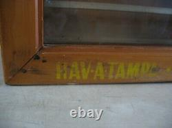 Vintage Hav-A-Tampa Cigar Wall hanging Wood & Glass Display Store Case advertisi