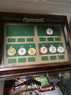 Vintage Ingrosoll Watch Store Display Case Cabinet Watches Not Included