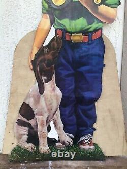 Vintage John Deere Boy Dog Toy Tractor Store Display Case Allis Chalmers Oliver