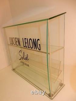 Vintage LUCIEN LELONG PERFUME 1930s ORIGINAL STORE DISPLAY GLASS CASE ART DECO