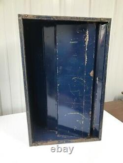 Vintage Metal CLARK'S O. N. T. BOILFAST Thread Store Display CABINET / CASE