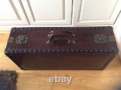 Vintage Style Faux Crocodile Luggage Shoe Case Suitcase Storage Window display