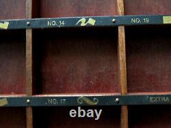 Vtg Esterbrook Drawlet Pens Display Case, Country Store Countertop Item