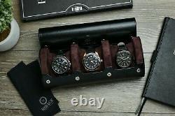 Watch Case Watch Travel Case Storage Organizer and Display Watch Roll Men