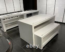 White Store Retail Display 2 Piece Nesting Tables