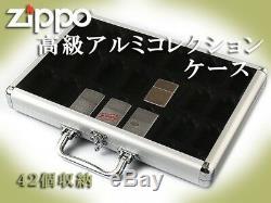 Zippo Storage Aluminium Collection Display Box Case Matsudaya max42pcs Japan